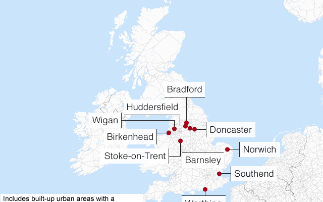 Map Of Uk Towns And Cities.The Uk Towns And Cities With The Highest And Lowest Wages Henlee
